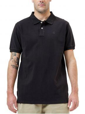 BASEHIT Ανδρική μαύρη κοντομάνικη πικέ πόλο μπλούζα 211.BM35.68GD BLACK