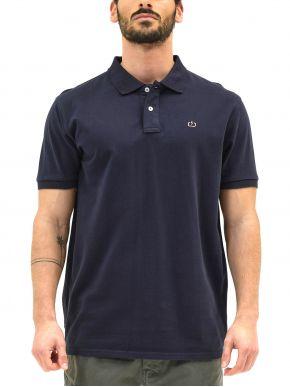 EMERSON Ανδρική μπλέ navy κοντομάνικη πικέ πόλο μπλούζα 211.EM35.69GD NAVY BLUE