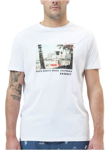 BASEHIT Ανδρικό λευκό T-Shirt. 211.BM33.33 White