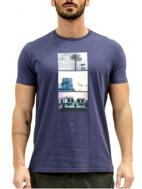 More about EMERSON Ανδρικό μπλέ T-Shirt 211.EM33.30 BLUE
