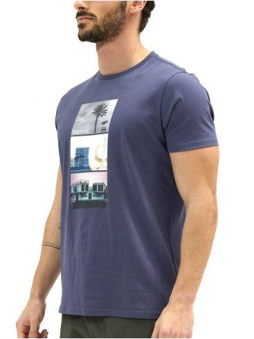EMERSON Ανδρικό μπλέ T-Shirt 211.EM33.30 BLUE