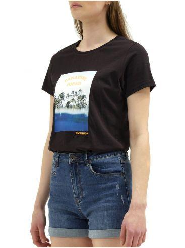 EMERSON Γυναικείο μαύρο T-Shirt 211.EW33.84 BLACK