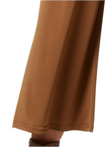 RAXSTA Γυναικείο καφέ ζίπ κιλότ T20210 BROWN
