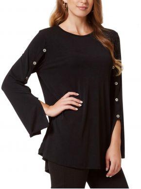 ANNA RAXEVSKY Γυναικείο μαύρη μπλούζα, B20234 Black