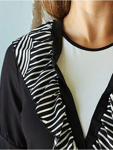 ANNA RAXEVSKY Γυναικεία κοντομάνικη μπλούζα, βολάν. B20112