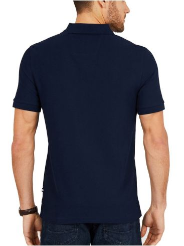 NAUTICA Ανδρικό μπλέ navy κοντομάνικο μπλουζάκι πόλο πικέ K41050 TNV Navy