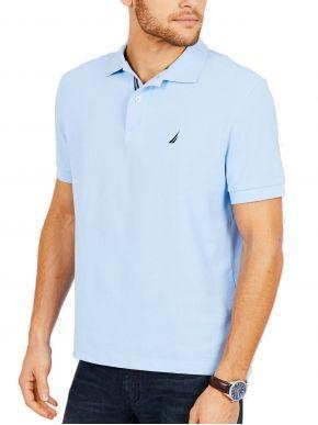 NAUTICA Ανδρικό γαλάζιο κοντομάνικο μπλουζάκι πόλο πικέ K41050 4NN