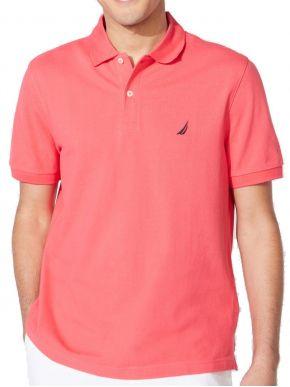 NAUTICA Ανδρικό ρόζ κοντομάνικο μπλουζάκι πόλο πικέ K15000 6YW RASPBRYWIN