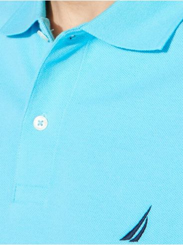 NAUTICA Ανδρικό σιέλ κοντομάνικο μπλουζάκι πόλο πικέ K15000 TUN BLUE TINT