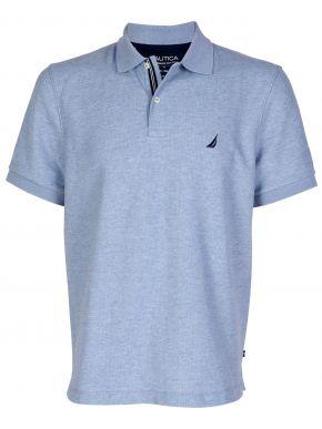 NAUTICA Ανδρικό γαλάζιο μελανζε κοντομάνικο μπλουζάκι πόλο πικέ K51050 4DO DPANCHORHT Ancrore