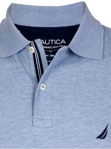 NAUTICA Ανδρικό μπλέ navy κοντομάνικο μπλουζάκι πόλο πικέ K41050 4NV Navy
