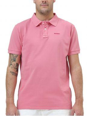 EMERSON Ανδρική ρόζ κοντομάνικη πικέ πόλο μπλούζα 211.BM35.70GDA CORAL PINK