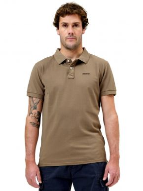 EMERSON Ανδρική λαδί κοντομάνικη πικέ πόλο μπλούζα 211.BM35.70GDA OLIVE