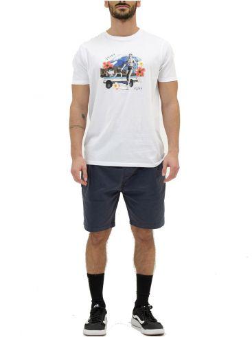 EMERSON Ανδρικό λευκή T-Shirt 211.EM33.06 WHITE