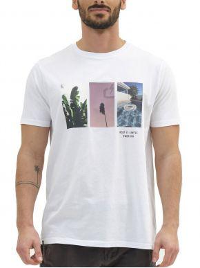 EMERSON Ανδρικό λευκό T-Shirt 211.EM33.34 White