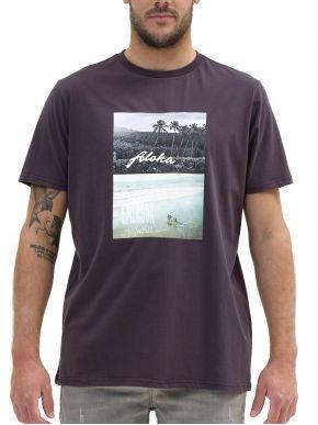 EMERSON Ανδρική μαύρη T-Shirt 211.EM33.43 OFF BLACK