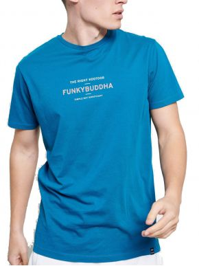 More about FUNKY BUDDHA Ανδρικό T-Shirt, regular fit. FBM003-009-04 DEEP TEAL