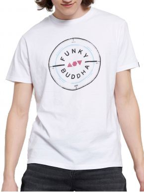 More about FUNKY BUDDHA Ανδρικό λευκή T-Shirt, regular fit. FBM003-055-04 WHITE