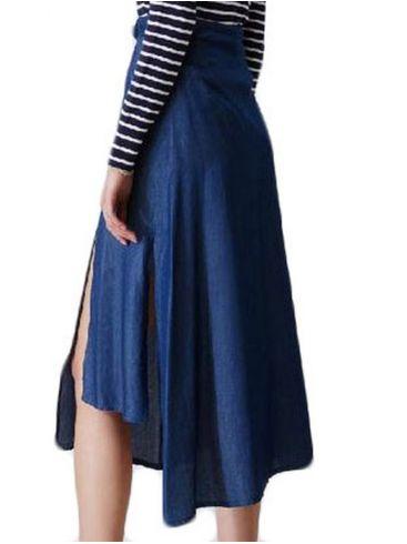 SARAH LAWRENCE Φούστα μακρια ασύμετρη με τόκα. 2-202091
