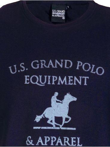 US GRAND Ανδρικό μπλέ navy κοντομάνικο T-Shirt μπλουζάκι