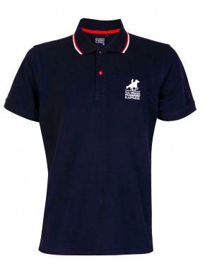 US GRAND POLO Ανδρική μπλέ navy κοντομάνικη πικέ πόλο μπλούζα. USP 063 Blu