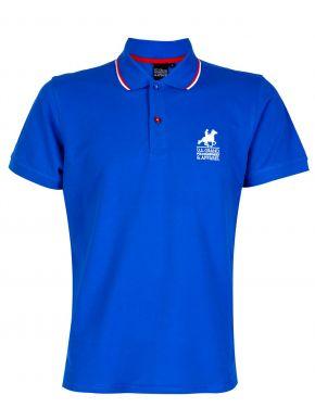 US GRAND POLO Ανδρική μπλέ κοντομάνικη πικέ πόλο μπλούζα. USP 063 Azzuro