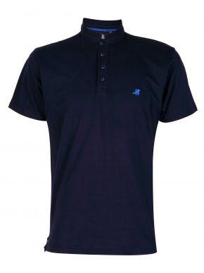US GRAND POLO Ανδρική μπλέ κοντομάνικη πικέ πόλο μπλούζα. USP 069 Nero