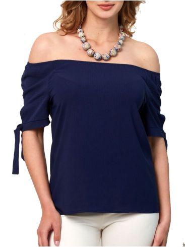 ANNA RAXEVSKY Γυναικεία μπλέ μπλούζα B21105 BLUE