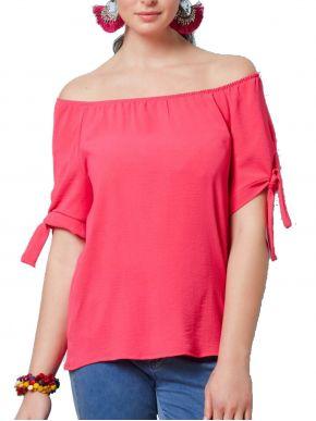 ANNA RAXEVSKY Γυναικεία φούξια μπλούζα B21105 FUXIA