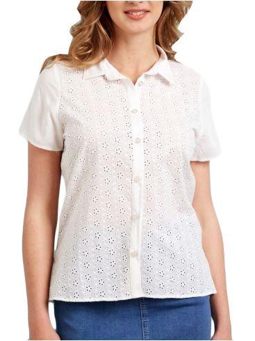 ANNA RAXEVSKY Γυναικείο κηπούρ κοντομάνικο πουκάμισο Z21105