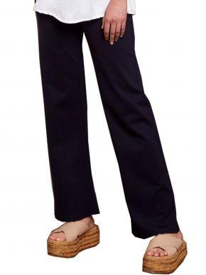 ANNA RAXEVSKY Γυναικείο μπλέ ελαστικό παντελόνι με μπάσκα T21100 BLUE