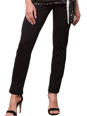 ANNA RAXEVSKY Γυναικείο μαύρο ελαστικό παντελονοκολάν T21102 BLACK