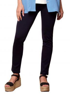 ANNA RAXEVSKY Γυναικείο μπλέ ελαστικό παντελονοκολάν T21102 BLUE