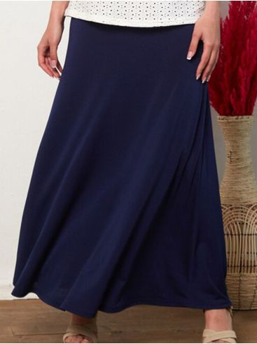 ANNA RAXEVSKY Γυναικείο μπλέ μάξι φούστα F21100 BLUE