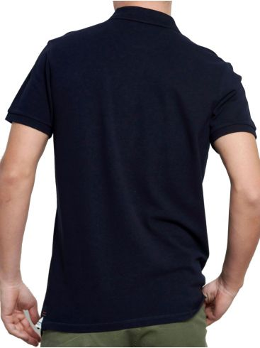 FUNKYBUDDHA Ανδρικό κοντομάνικο μπλούζα πόλο πικέ FBM003-001-11 Navy