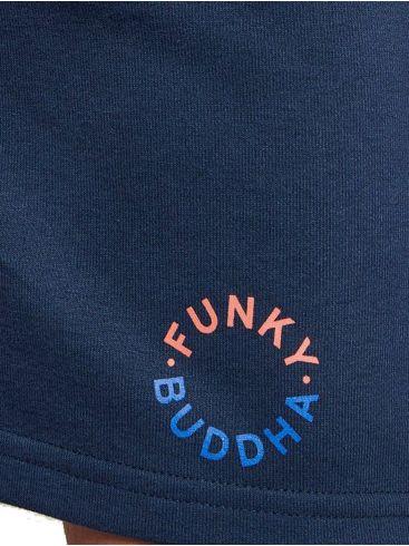 FUNKY  BUDDHA Ανδρική μπλέ navy αθλητική βερμούδα FBM003-031-03 Navy
