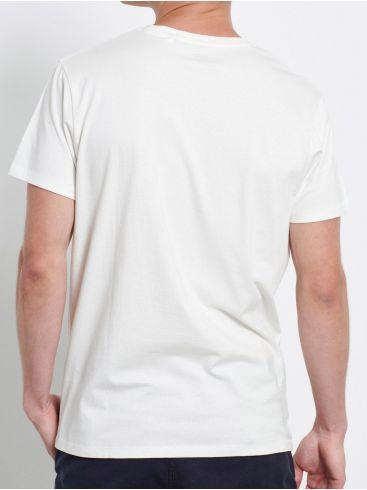 FUNKY BUDDHA Ανδρική λευκή αθλητική βερμούδα FBM003-093-04 Off White
