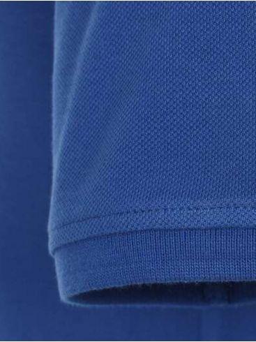 REDMOND Ανδρική μπλέ κοντομάνικη μαλακή πικέ πόλο μπλούζα