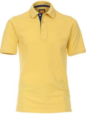 REDMOND Ανδρική κίτρινη κοντομάνικη πικέ πόλο μπλούζα, 940.40-M.