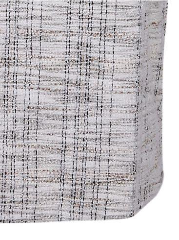 RINO PELLE Ολλανδικό εκρού-μαύρο κοντομάνικο ελαστικό φόρεμα