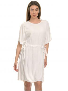 M MADE IN ITALY Λευκό κοντομάνικο φόρεμα 19/9133M