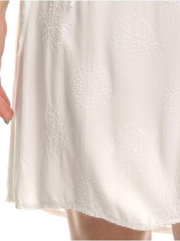 M MADE IN ITALY Γκρί-λευκό μακρύ φόρεμα