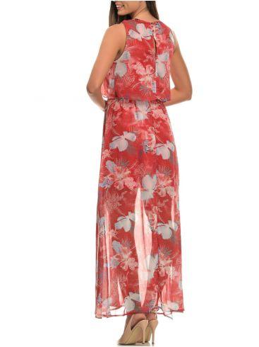MisMASH Ισπανικό λευκό φόρεμα, διαφάνεια, γκοφρέ