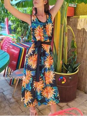 ESQUIVO Μακρύ φλοράλ αέρινο φόρεμα