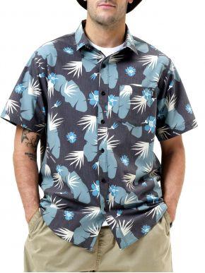 BASEHIT Ανδρικό κοντομάνικο μπλέ πουκάμισο 211.BM61.02 PR226 OFF BLACK