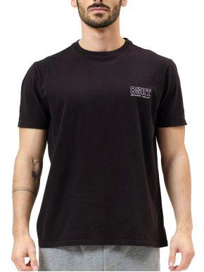 BASEHIT Ανδρικό μαύρο κοντομάνικο T-Shirt 211.BM33.78 Black