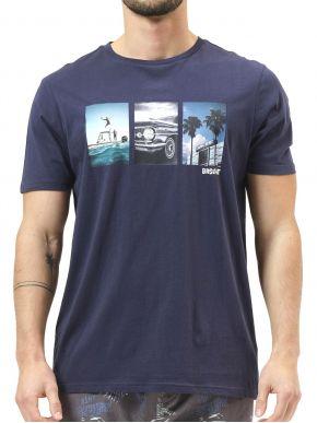 BASEHIT Ανδρικό μπλέ navy κοντομάνικο T-Shirt 211.BM33.50 NAVY BLUE