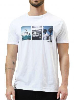 BASEHIT Ανδρικό λευκό κοντομάνικο T-Shirt 211.BM33.50 White