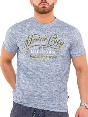 DUKE Ανδρικό κοντομάνικoTshirt. D555 STIRLING 600904 Blue Reno