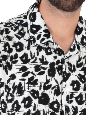 STEFAN Ανδρικό μπλέ λαχούρι μακρυμάνικο μεσάτο πουκάμισο 9034.